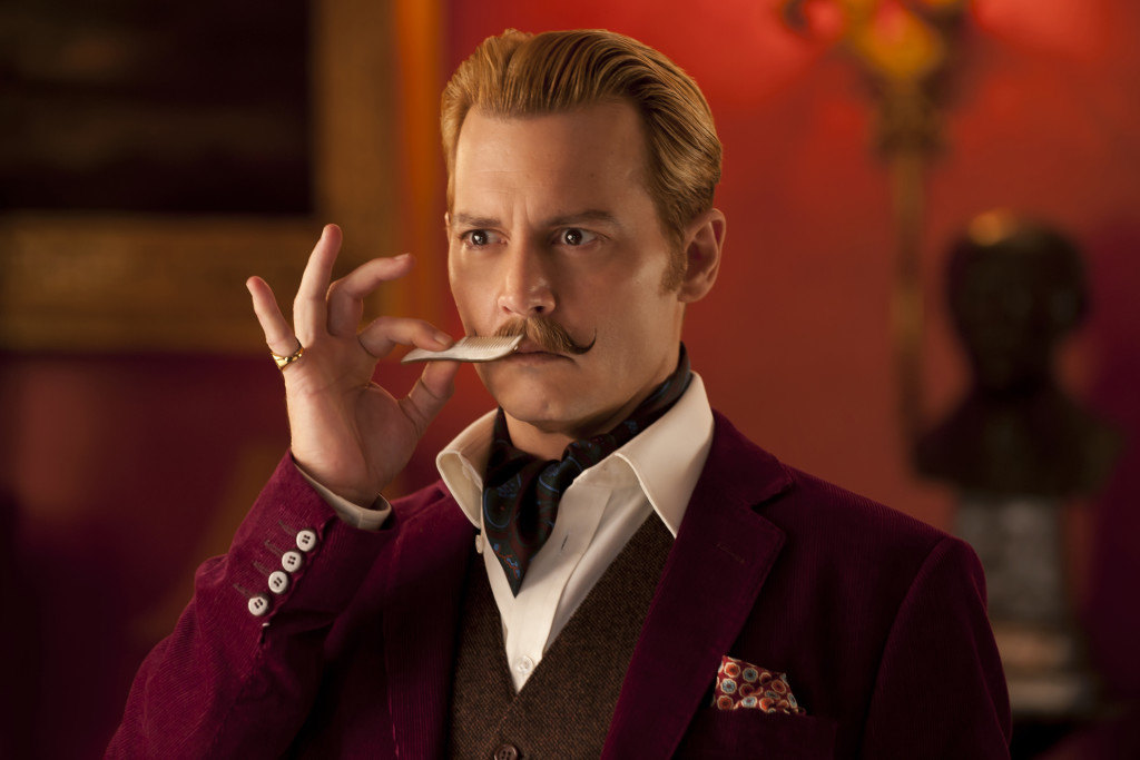 MORTDECAI - 2015 FILM STILL - Johnny Depp as Charlie Mortdecai - Photo Credit: David Appleby © 2015 Lionsgate