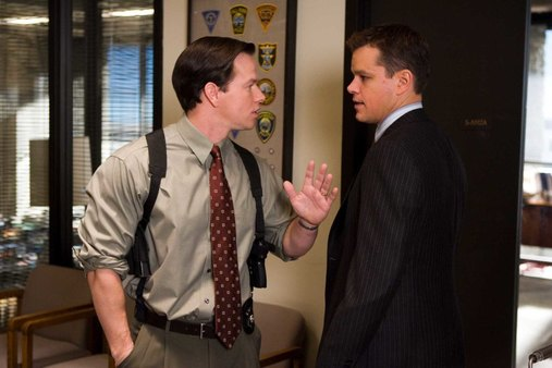 "Sergeant Dignam (MARK WAHLBERG) has a heated exchange with Colin Sullivan (MATT DAMON) over the identity of the mob infiltrator in Warner Bros. Pictures' crime drama ""The Departed."" PHOTOGRAPHS TO BE USED SOLELY FOR ADVERTISING, PROMOTION, PUBLICITY OR REVIEWS OF THIS SPECIFIC MOTION PICTURE AND TO REMAIN THE PROPERTY OF THE STUDIO. NOT FOR SALE OR REDISTRIBUTION."