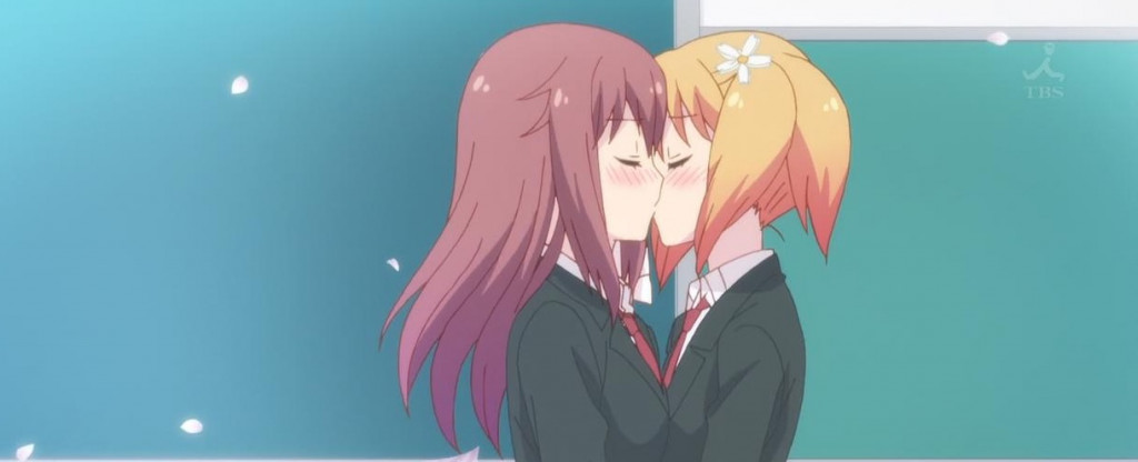 Anime lesbians making out