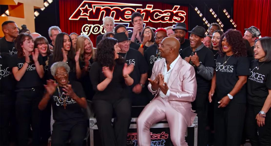Voices of our city gets golden buzzer on Americas got talent premiere.